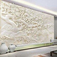 Tapete Wandbilder Imitation Jade Weiß Carving
