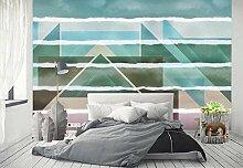 Tapete Wandbilder Retro geometrisches Dreieck