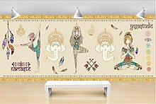 Tapete Wandmalerei Tanzraum Yogahalle Tapete