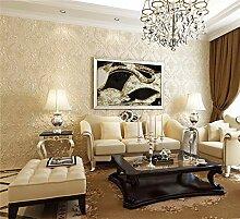 Tapete Warm 3D Damaskus Vliestapete Wohnzimmer