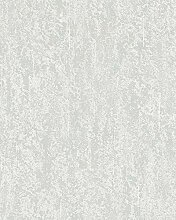 Tapete Weiß Grau Struktur Betonoptik Uni Vlies