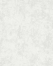 Tapete Weiß Struktur - Betonoptik - für