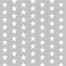 Tapete Weiße Sterne 240 cm L x 240 cm B Fessler