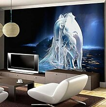 Tapete White Horse Sofa Tv Hintergrundbild Tapete