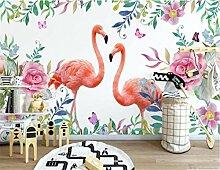 Tapeten 3D Flamingo Blume Tapete Wandbilder Für
