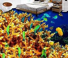 Tapeten 3d moderne3d bodenbelag Coral turtle