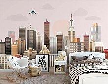 Tapeten 3D Stadt Bau Tapete Wandbild Für
