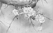 Tapeten 3D Tapete Wandbilder Graue Blumen