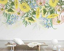 Tapeten 3D Tapete Wandbilder Handgemaltes Gelb Der