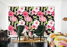 Tapeten 3D Tapete Wandbilder Hibiskusblütenblatt