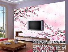 Tapeten 3D Tapete Wandbilder Moderne Rosa Blume