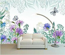 Tapeten 3D Tapete Wandbilder Stiefmütterchenblatt