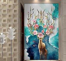 Tapeten 3D Tapeten Elk Tier Wandbilder Tapete Für