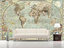 Tapeten 3D Weltkarte Tapete Wandbild Wandtapeten