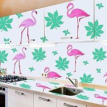 Tapeten Aufkleber Tiere Flamingo Drucken, TankerStreet Wallpaper 2 PCS, 70x50 CM