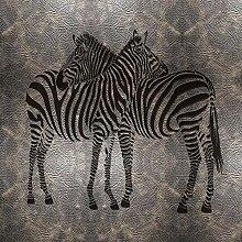 Tapeten Benutzerdefinierte Wandbild 3D Zebra