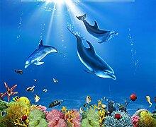 Tapeten Delphin Unterwasserwelt 3D Wohnzimmer