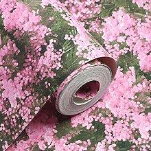 Tapeten Einfache pastoralen Blumen, lila Web, rote