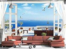 Tapeten Fenster Balkon Meerblick Malerei Sofa Tv