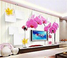 Tapeten Fototapete-Motten-Orchidee 3D Der
