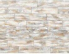 Tapeten Fototapeten Holzwand Fliese - Vlies Wand