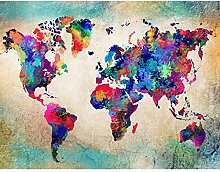 Tapeten Fototapeten Weltkarte World Map - Vlies