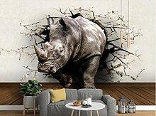 Tapeten für wohnzimmer Custom art rhino 3d wand