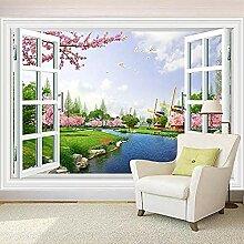 Tapeten Home Decor Fenster im Freien Flussbaum