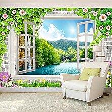 Tapeten Home Decor Fenster Outdoor Lake Mountain