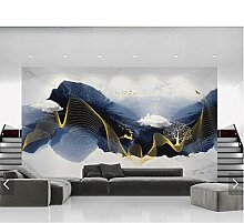 Tapeten MRQXDP Chinesische Abstrakte Tinte Berg