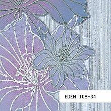 Tapeten MUSTER EDEM 108-Serie | Tapete Floral Blumentapete Schmetterlinge Blumen, 108-XX:S-108-34