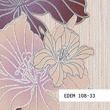 Tapeten MUSTER EDEM 108-Serie | Tapete Floral Blumentapete Schmetterlinge Blumen, 108-XX:S-108-33