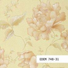 Tapeten MUSTER EDEM 748-Serie | 3D Luxus Präge Floral Blumen Tapete, 748-XX:S-748-31