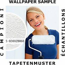 Tapeten Muster EDEM 83002BR60 | Vliestapete zum Überstreichen Barock Tapete mit Ornamenten ma