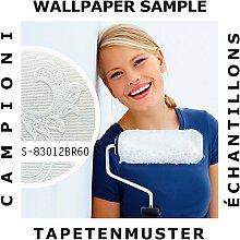 Tapeten Muster EDEM 83012BR60 | Vliestapete zum Überstreichen Barock Tapete mit floralen Ornamenten ma