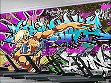 Tapeten Neuheit Graffiti Hand Malerei Tapete Für