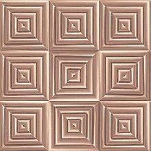Tapeten Quadratische Tapete Kupfer/Rose Gold