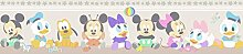 Tapeten Rand Disney Baby Mickey Minnie Mouse Kinder - Mocha MK3500-3