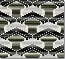 Tapeten Retro Design Testbild schwarz weiß silber
