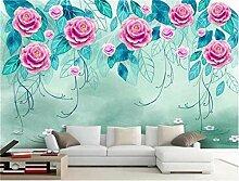 Tapeten Rosen-Blume Der Fototapete Der Tapete 3D