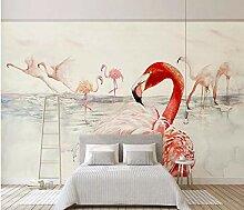 Tapeten Tapete Diy Flamingo Rot Für