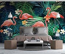 Tapeten Tropische Blume Flamingo Tapete Wandbild