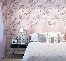 Tapeten Vlies-Tapete,Rosa Blumenrelief,Design für