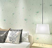 Tapeten Vlies Tapeten Schlafzimmer Wohnzimmer Hintergrund Tapete 0,53 M * 9,5 m, Gras Grün