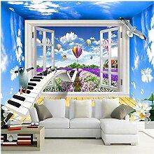 Tapeten Wandbild Hintergrund 3D Stereo Fenster