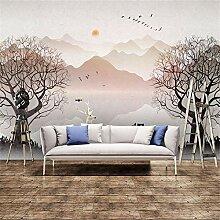 Tapeten Wandbild Wandaufkleber8D Sternenmond Sonne