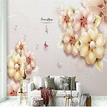 Tapeten Wandbild Wandaufkleberblume Und Vogel
