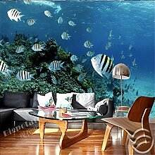 Tapeten Wandbild Wandaufkleberfische Meer Muster