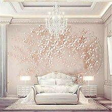 Tapeten Wandbild Wandaufklebergoldene Blumen