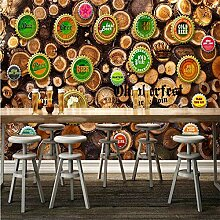 Tapeten Wandbild Wandaufkleberretro Bierkappe